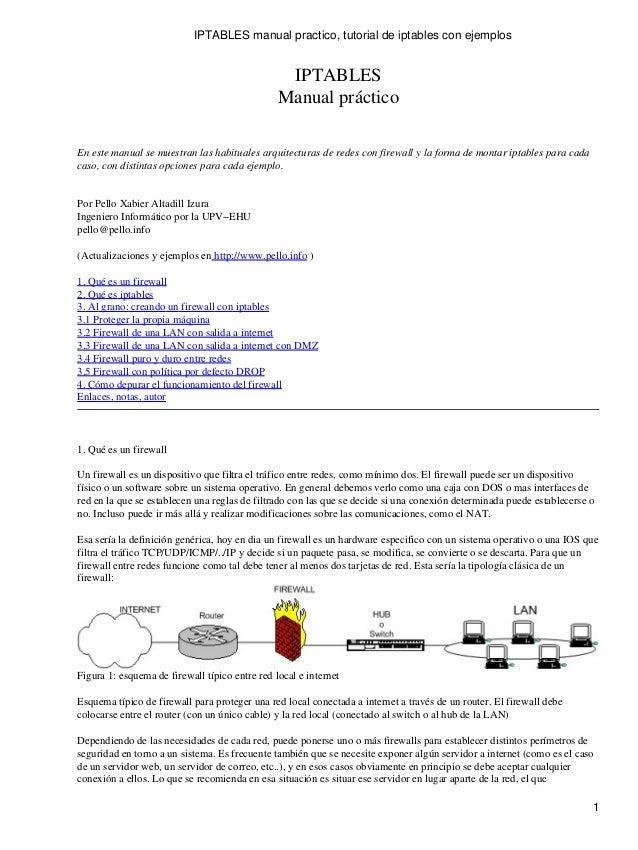 manual resumen iptables