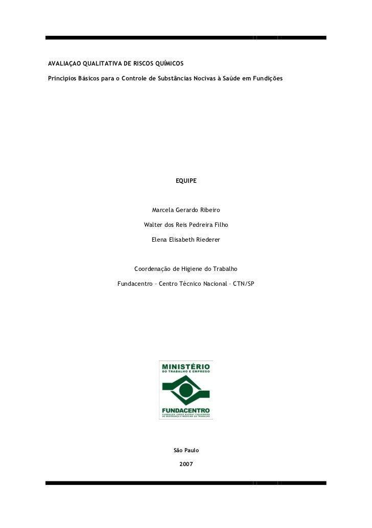 Manual riscos quimicos