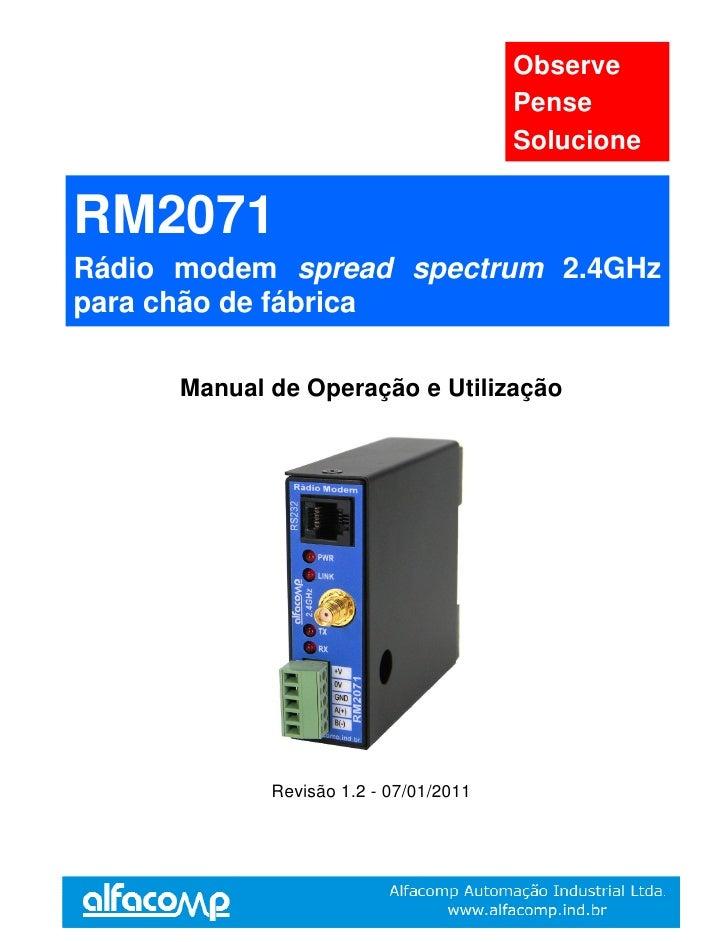 Observe                                         Pense                                         Solucione   RM2071 Rádio mod...