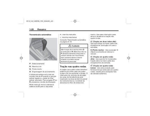 Manual S10 2015 Chevrolet