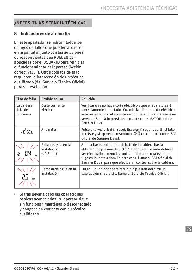 Manual caldera saunier duval isofast condens f 35 for Presion caldera saunier duval