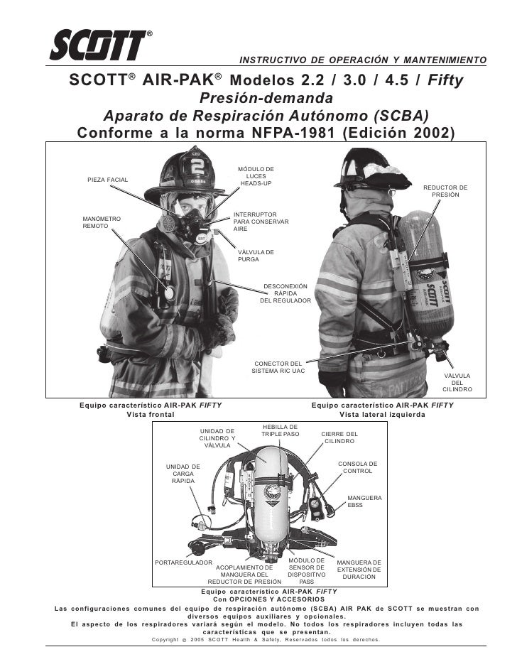 Scott air pack manual