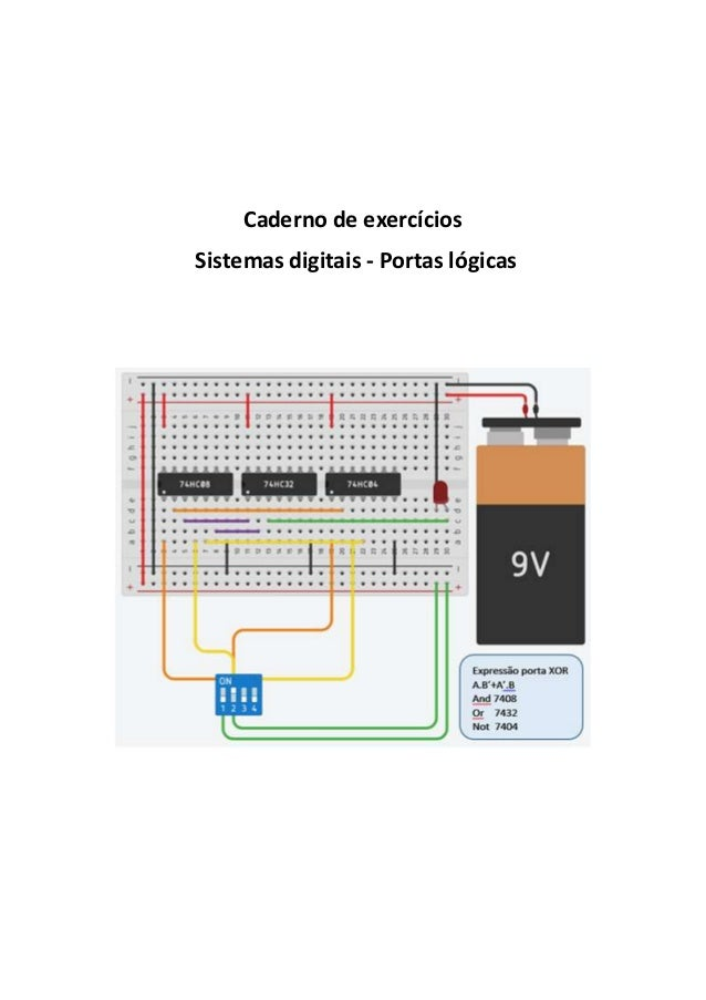 Caderno de exercícios Sistemas digitais - Portas lógicas