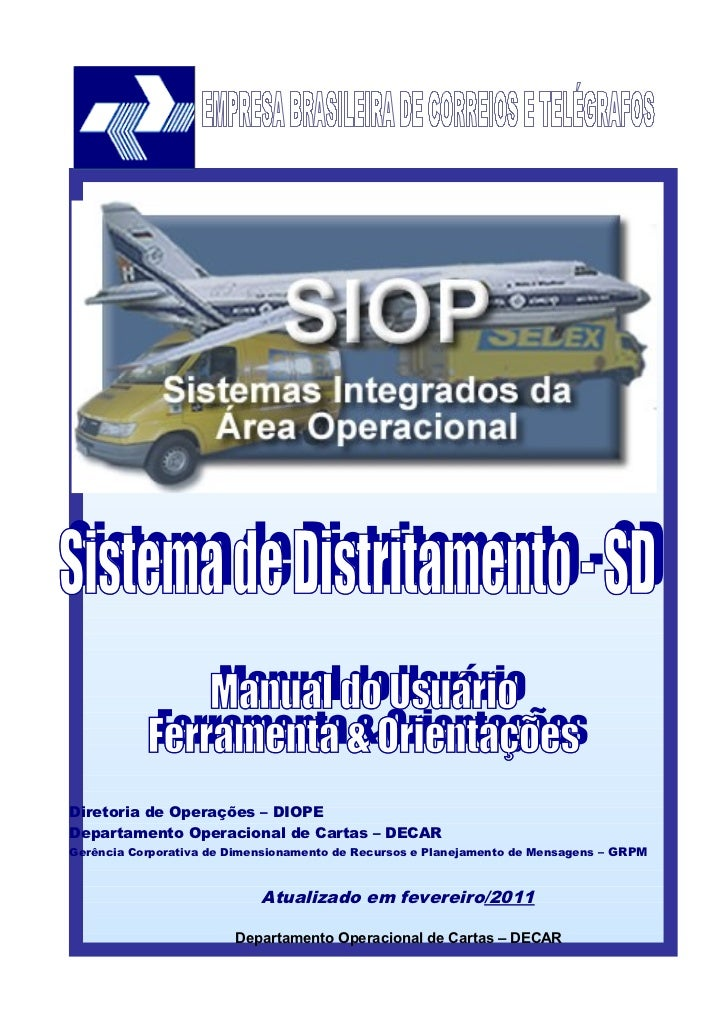 DEPARTAMENTO OPERACIONAL DE CARTAS — DECARDiretoria de Operações – DIOPEDepartamento Operacional de Cartas – DECARGerência...