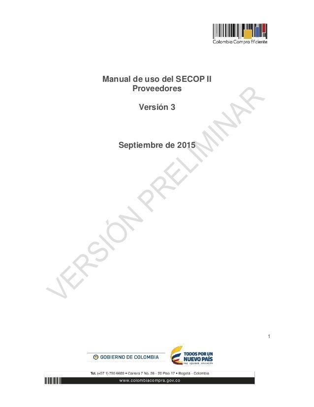 Manual secop 2