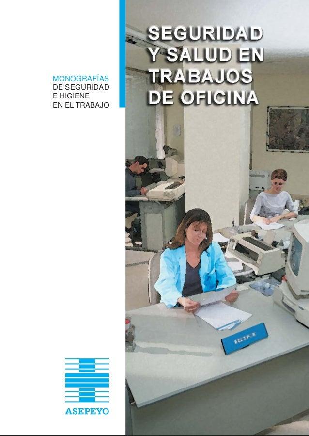 Manual seguridad y salud trabajo oficina for Trabajo limpiando oficinas