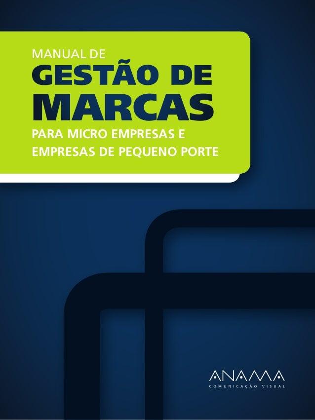 Manual deGestão demarcaspara micro empresas eempresas de pequeno porte