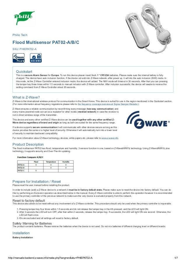 13/6/2018 manuals-backend.z-wave.info/make.php?lang=en&sku=PHIEPAT02-A http://manuals-backend.z-wave.info/make.php?lang=en...
