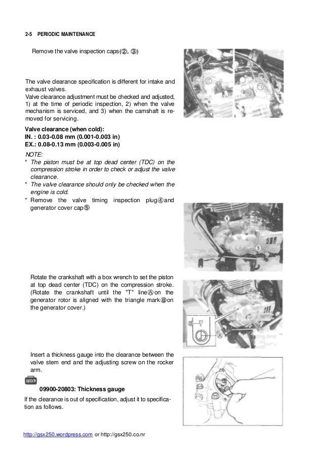 Manual service 250