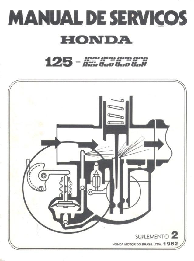 1 CG125 ECCO Neste suplemento encontram-se todas as informações para a manutenção, inspeção e reparos dos carburadores ECC...