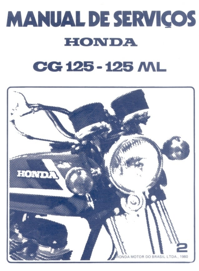 INTRODUÇÃO 1.1 CG125-125ML Este manual contém todas as informações necessárias para a manutenção, inspeção e reparos da HO...
