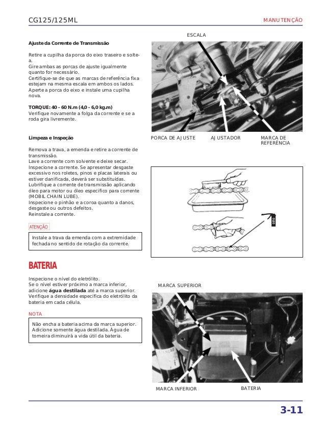 Manual serviço 125 ml83 manutenc