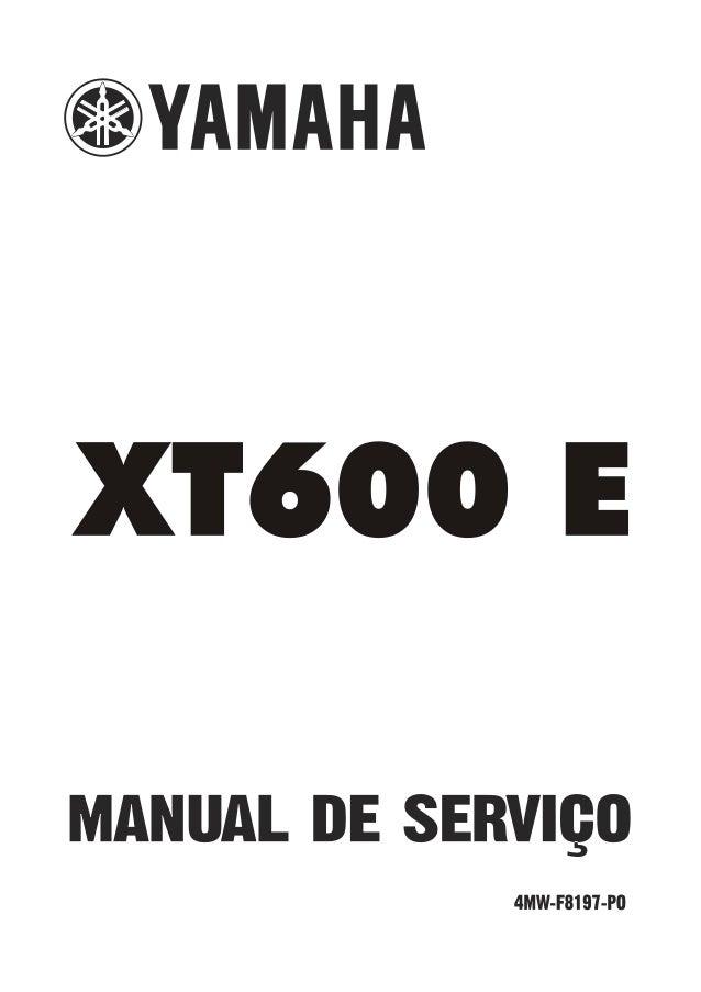 manual servi o yamaha xt 600 e rh pt slideshare net 1990 Yamaha Xt600 Custom Yamaha XT660Z Tenere