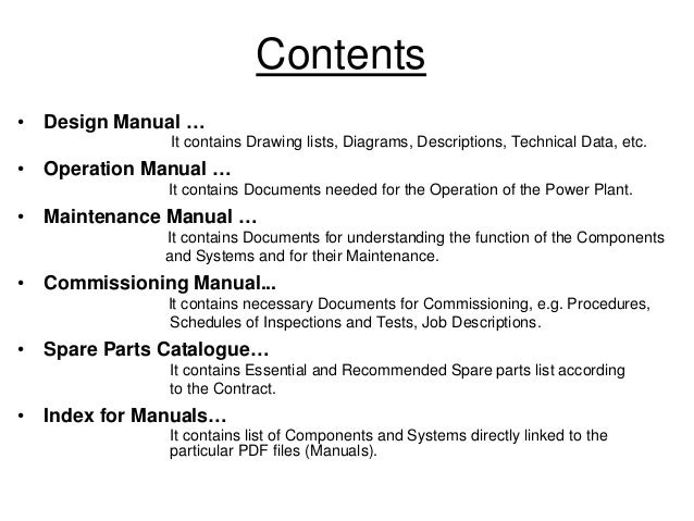 Icons Manuals For Power Plant