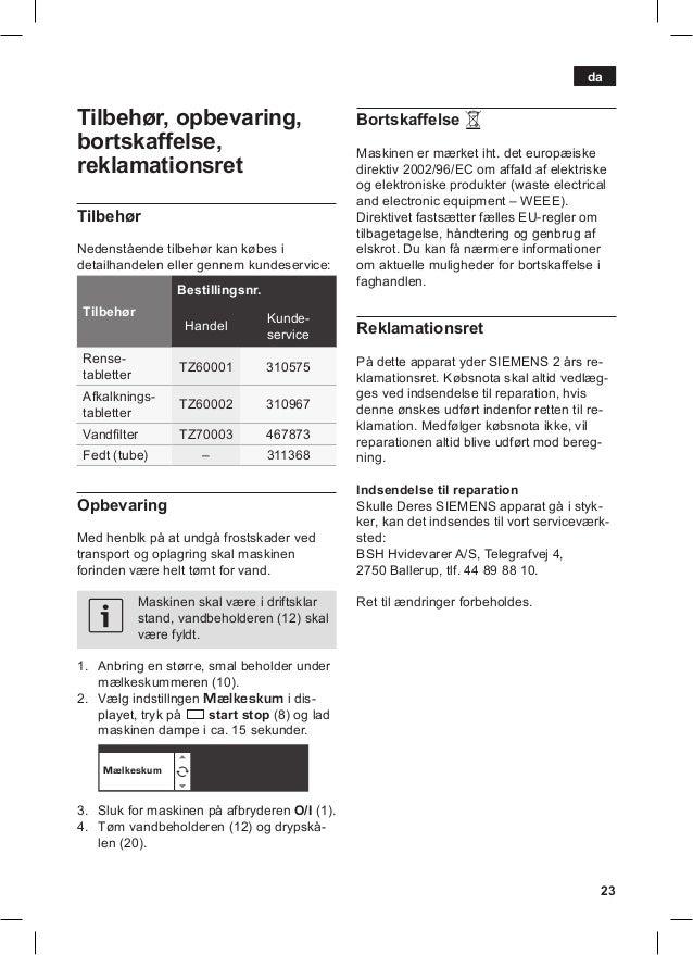 Manual siemens cafetera tk76k573 23 publicscrutiny Choice Image