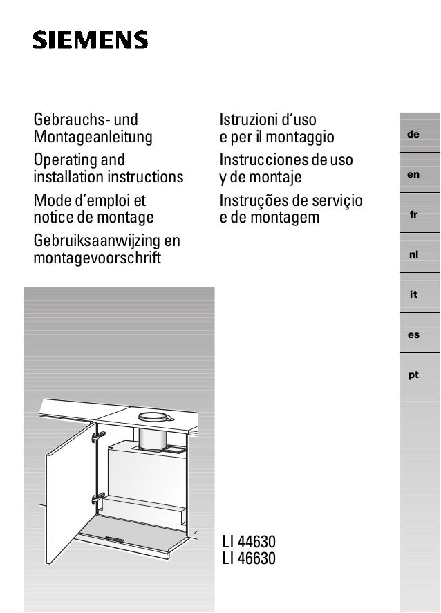 LI 44630 LI 46630 de en fr nl it es pt Gebrauchs- und Montageanleitung Operating and installation instructions Mode d'empl...