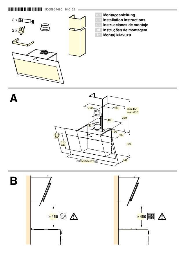 *9000864480* 9000864480 940122 Ø Montageanleitung Ú Installation instructions Û Instrucciones de montaje ì Instruções de m...