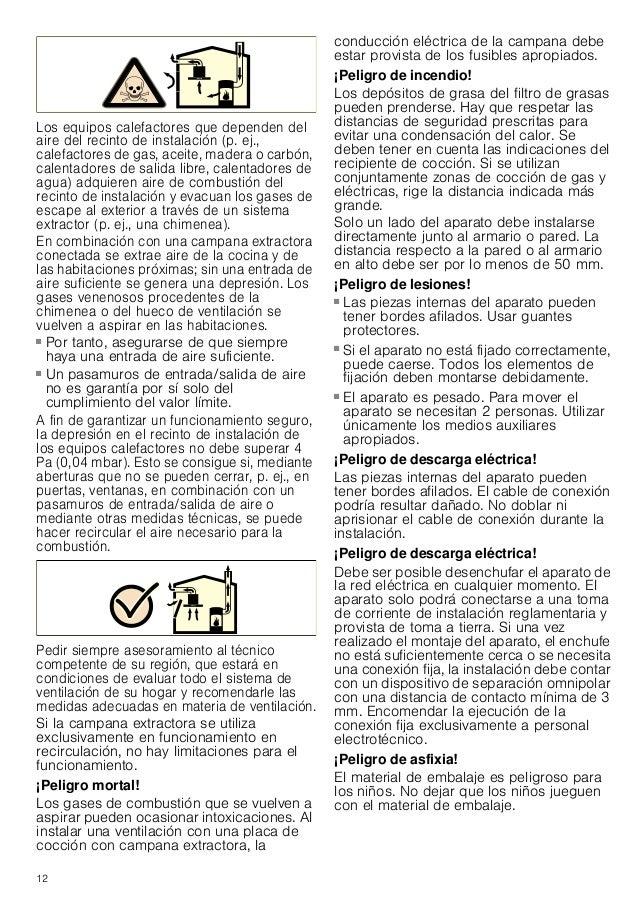13 Consejos y advertencias generales Funcionamiento en salida de aire al exterior : ¡Peligro de muerte! Los gases de combu...