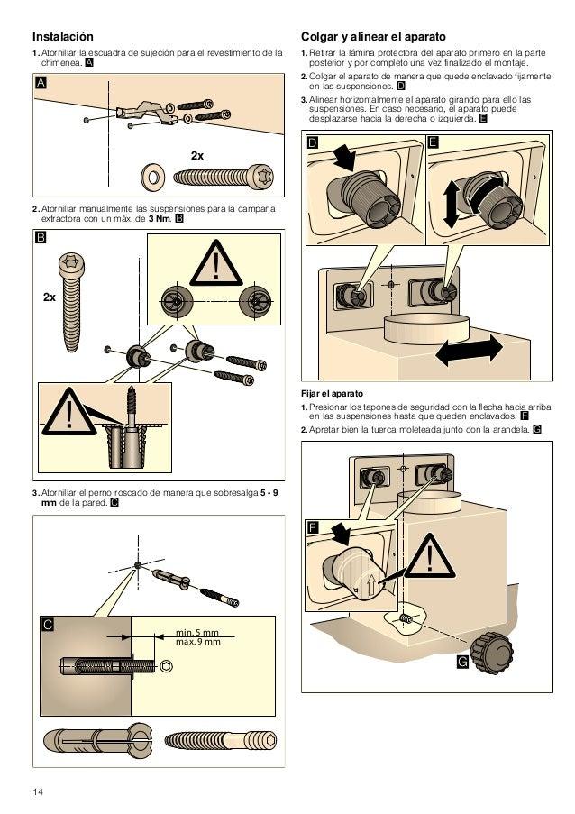 15 Retirar los tapones de seguridad Si fuese necesario retirar los tapones de seguridad, utilizar un destornillador plano....