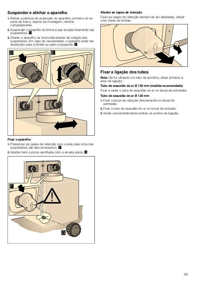30 Montagem do painel decorativo da chaminé : Perigo de ferimentos! devido a cantos pontiagudos durante a instalação. Usar...
