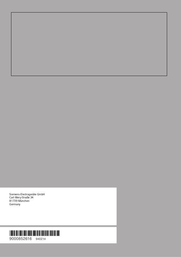 Manual siemens   campana lc98ka642