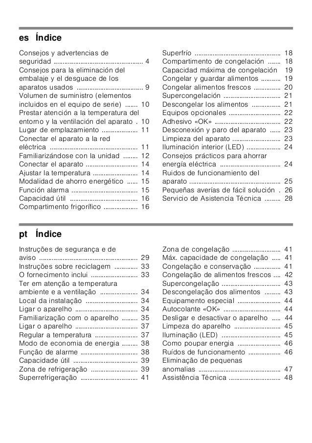 Manual siemens   combi kg36nxi32 Slide 2