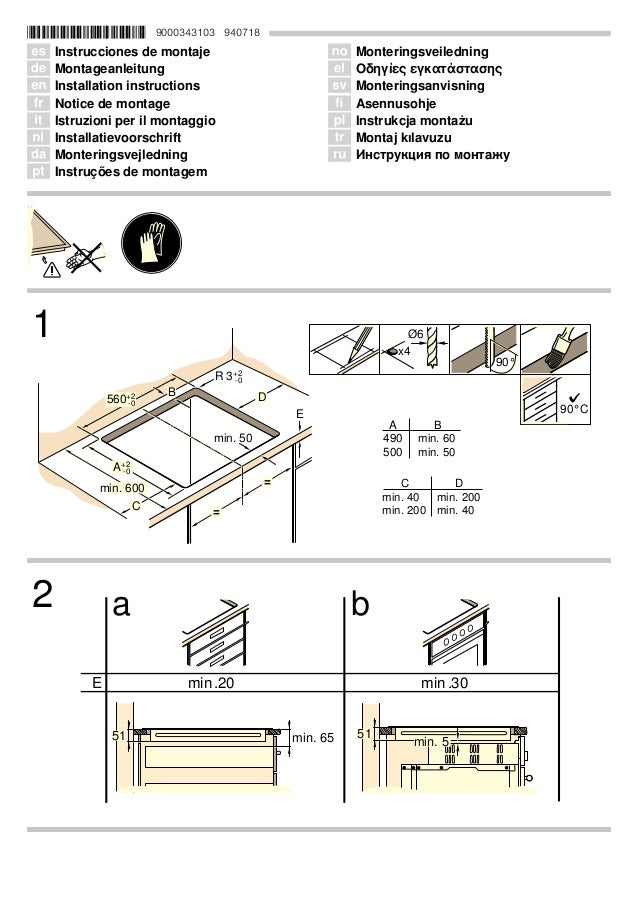 *9000343103* 9000343103 940718 Û Instrucciones de montaje Ø Montageanleitung Ú Installation instructions Þ Notice de monta...