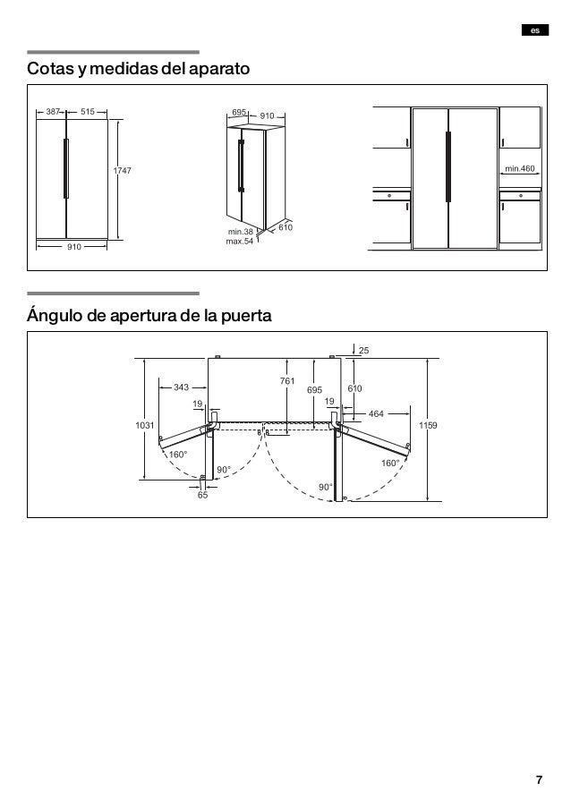 Manual siemens frigor fico americano ka62dv71 - Nevera americana medidas ...