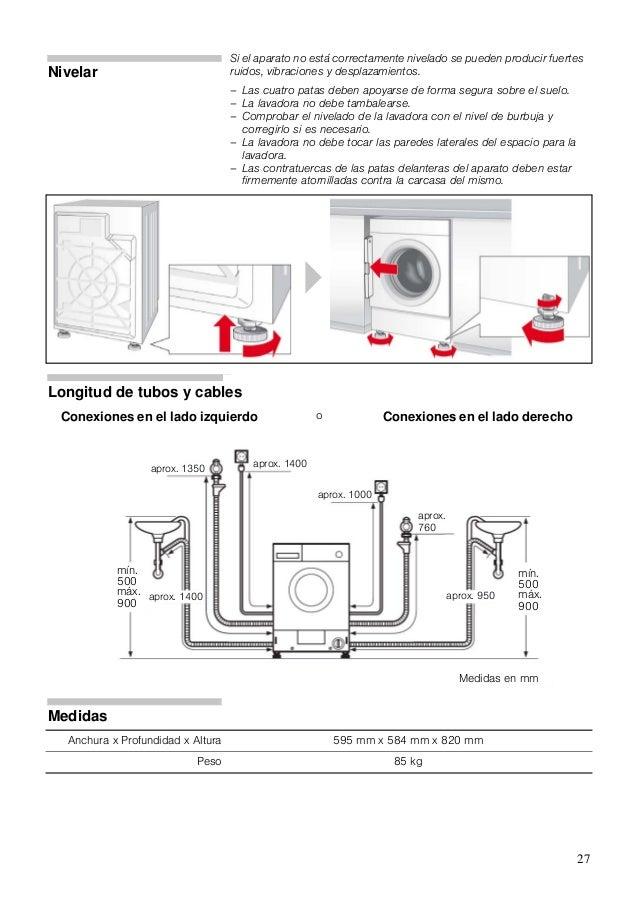 Manual siemens lavadora secadora wk14d540ee - Medidas de lavadoras y secadoras ...