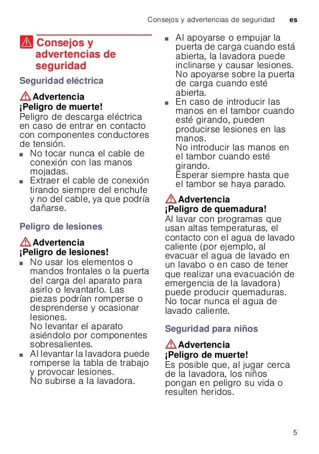 Consejos y advertencias de seguridad es 5 ( Consejos y advertencias de seguridad Consejosyadvertenciasdeseguridad Segurida...