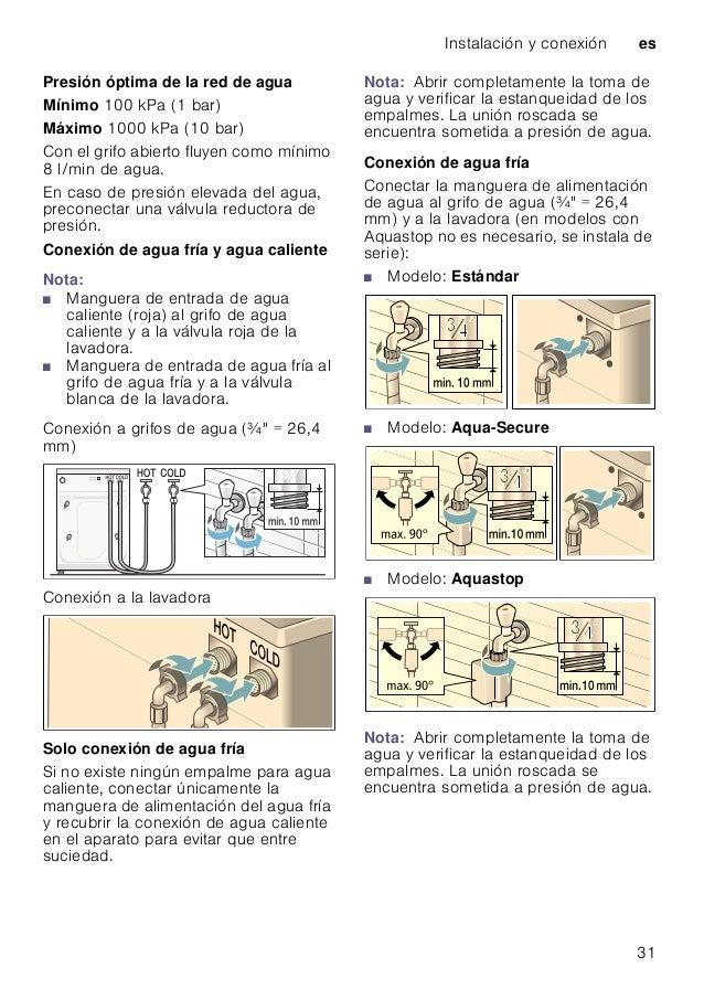 Manual siemens lavadora wm14q47xes