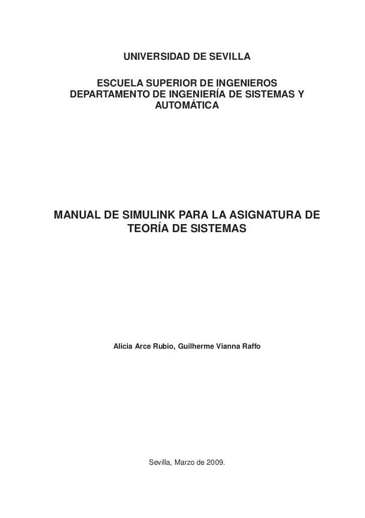 UNIVERSIDAD DE SEVILLA      ESCUELA SUPERIOR DE INGENIEROS  DEPARTAMENTO DE INGENIERÍA DE SISTEMAS Y               AUTOMÁT...