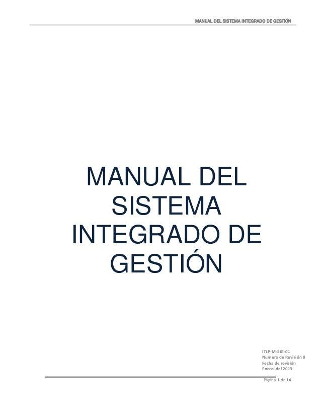 Manual sistema integrado de gestión