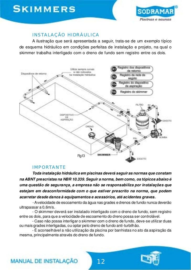Manual skimmer sodramar for Esquema hidraulico piscina