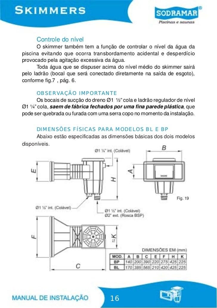 Sodramar manual skimmer for Regulador de nivel piscina