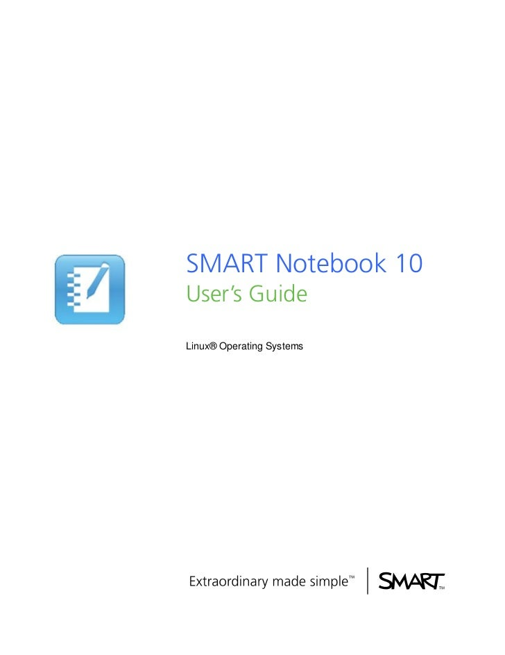 SMART Notebook 10User's GuideLinux® Operating Systems
