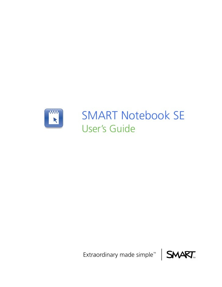 SMART Notebook SEUser's Guide