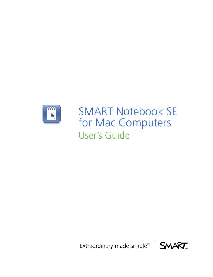 SMART Notebook SEfor Mac ComputersUser's Guide