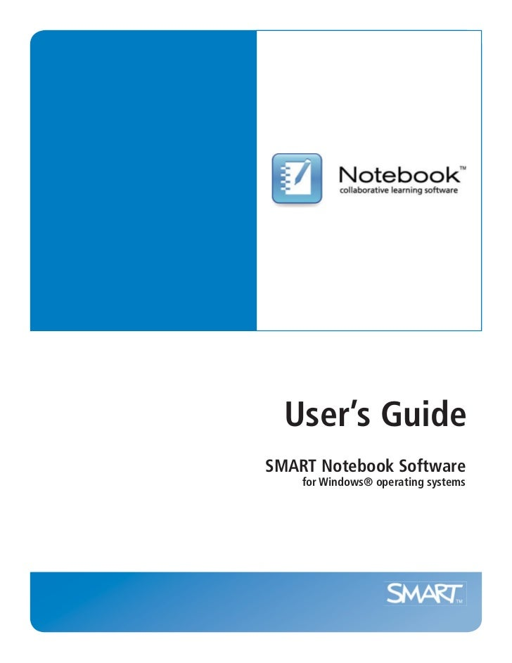 User's GuideSMART Notebook Software    for Windows® operating systems