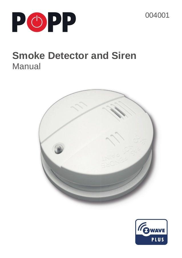 popp smoke detector siren english. Black Bedroom Furniture Sets. Home Design Ideas