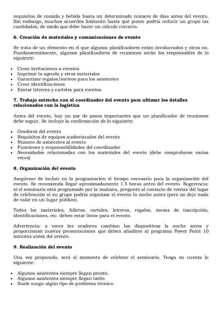 Manual sobre la organizaci n de eventos for Manual de procedimientos de alimentos y bebidas de un hotel