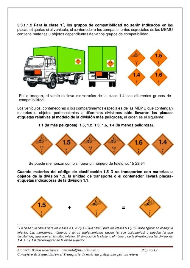 Manual sobre transporte de mercancias peligrosas (Baños, 2016)