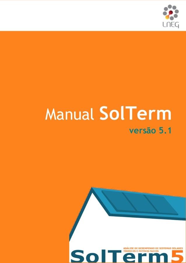 Manual SolTerm 1/73  Manual SolTerm  versão 5.1