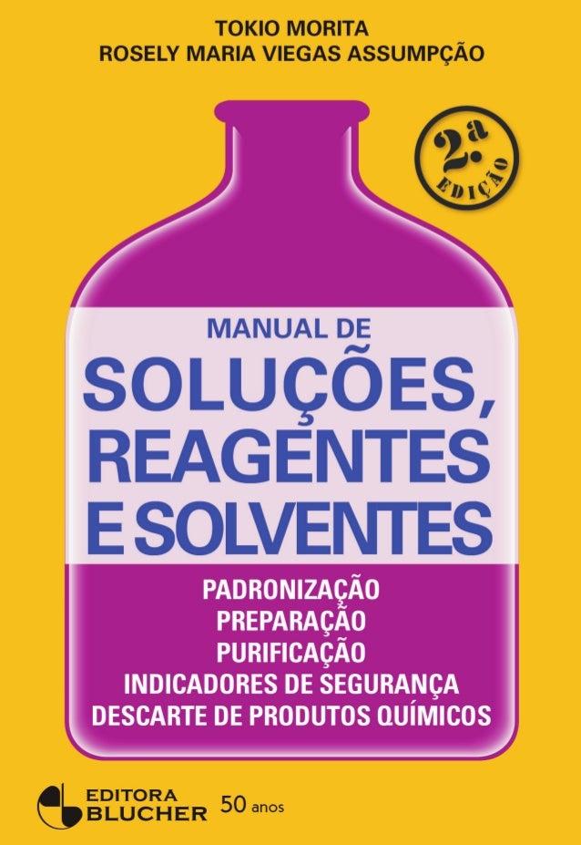 Manual soluções, reagentes e solventes