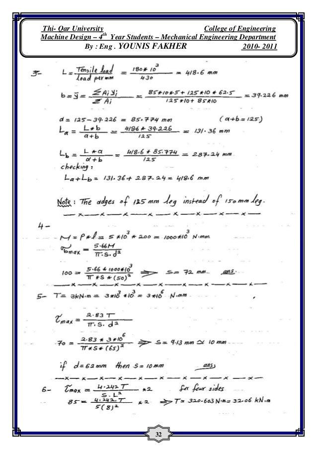 machine design solution manual