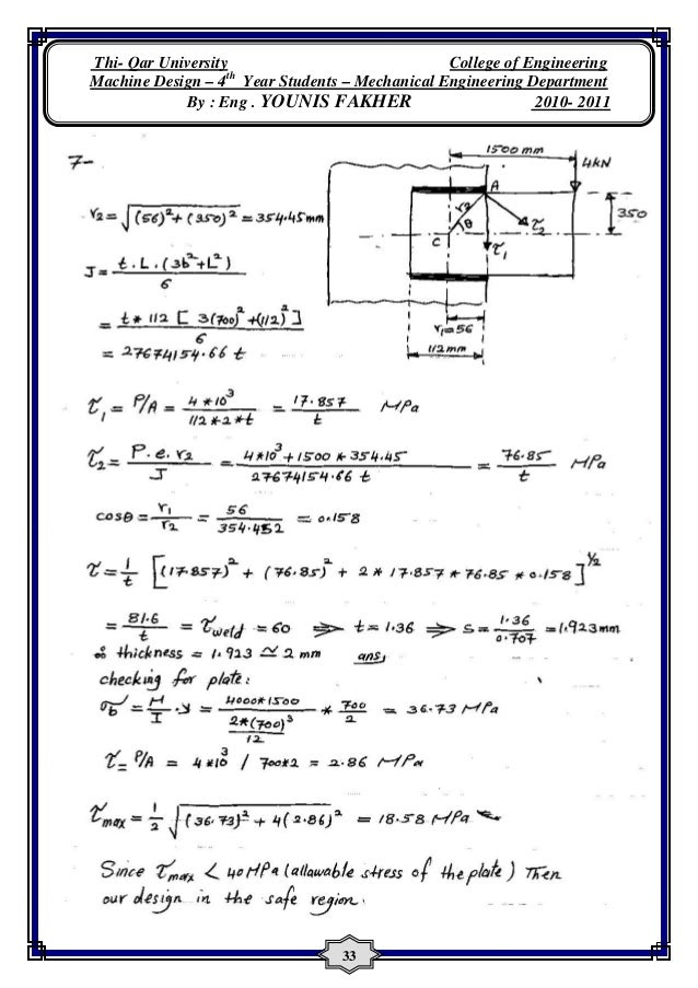 machine design solution manual pdf