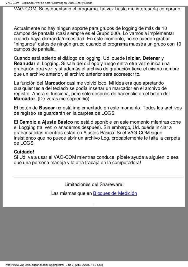 Manual spanish vag-com