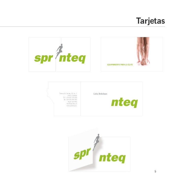 Manual de Imagen Corporativa de SPRINTEQ