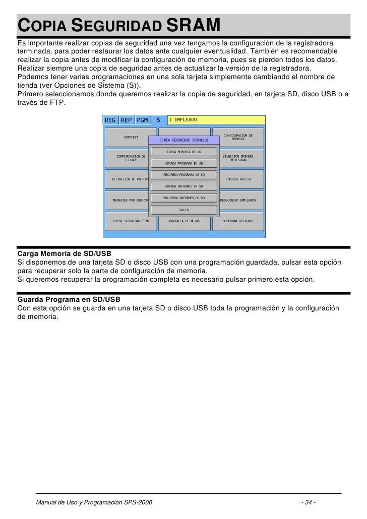 Sam4s sps-2000 manual