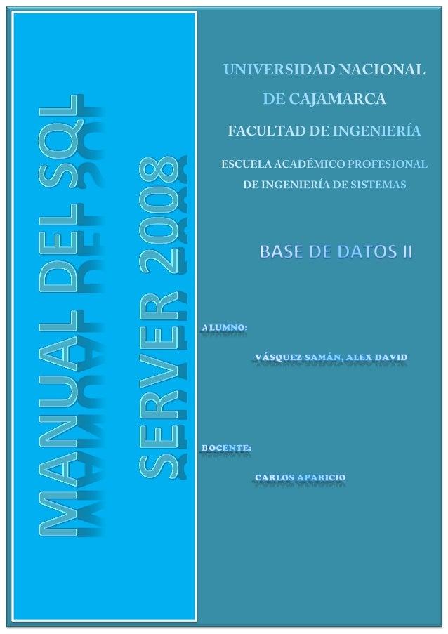 MANUAL SQL SERVER 2008                                                                                                    ...